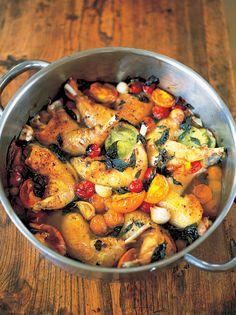tender & crisp chicken legs with sweet tomatoes | Jamie Oliver | Food | Jamie Oliver (UK)