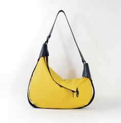 Rosaire  Handmade Black & Yellow Leather Twin Size by delacyonline