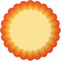 Silhouette Design Store - View Design #53349: nested scalloped circle