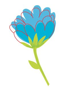 Blue Flower Drawing 600x800 Clear