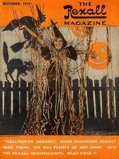Rexall Drugs magazine, Halloween, 1933, Joan Crawford cover
