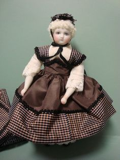 """Cathy Hansen 6 1 2"""" Huret French Fashion Bisque Doll Leather Body Painted Eyes 