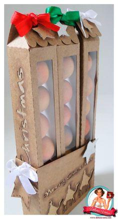 free silhouette studio cut file 3 box gift christmas Medidas aproximadas da três caixinhas juntas Caixa: 8 x 3 x 20 cm