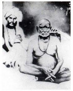 Original photo: Swami Samarth with Cholappa Maharaj (1860)