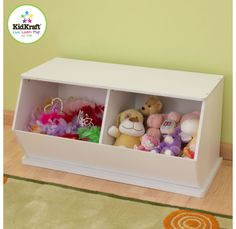 Say goodbye to all that clutter! Our White Double Storage Unit will help keep any room of the house tidy and organized. Features include:- Smart, sturdy construction-  Buy more than one for additional storage options � you can even stack them on top of each other! - Made of composite wood products -