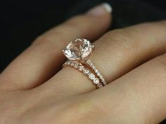 Omg this one!! Sleek Sparkle Ring || Round Cut Diamond Petite Ring With White Diamond In 14K Rose Gold