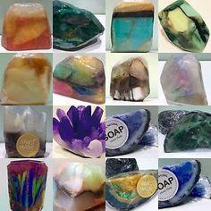 Handmade Gemstone SoapRocks~Unique Gift Soap~Malachite Geode Gift Soap Set | eBay