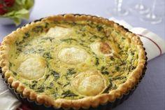 Recette de Tarte au chèvre et aux épinards, Une tarte moelleuse pour faire manger facilement des épinards aux enfants !