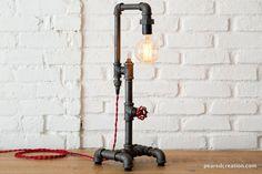 Lampe de Table Edison  lumière rustique Style par newwineoldbottles