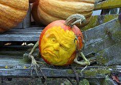 Pensive pumpkin by Ray Villafane. Whoa.