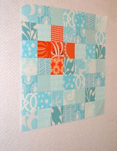 Love this by @Heather Bostic!  Really need to make an aqua and orange quilt.