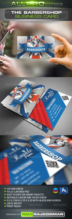 The Barbershop #Business #Card - Creative Business Cards Download Here: https://graphicriver.net/item/the-barbershop-business-card/2522999?ref=suz_562geid