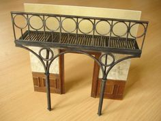 Working with 'Palight' foamed PVC to create these railings in 1/25 scalem great tutorial