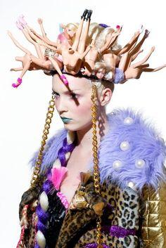 Crown made of Barbie dolls