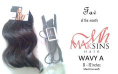 Maksins Hair Product of the month (June - July)   Naturelle Wavy A from 8 - 12inches paired with our Mini hair straightener! - Available in store and online www.maksinshair.com.            MORE ON YOUTUBE: http://youtu.be/0sY_ieWde_4