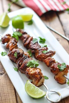 A savory and sweet marinade and baste makes these easy honey garlic chicken skewers perfect for cookouts! Cooked the chicken over the stove and doubled the sauce, to make a delicious meal over rice. Easy Honey Garlic Chicken, Soy Chicken, Chicken Recipes, Ginger Chicken, Garlic Shrimp, Honey Chicken Kabobs, Cooked Chicken, Orange Chicken, Healthy Chicken