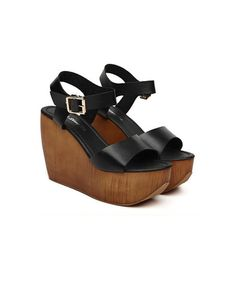 wood  leather platforms