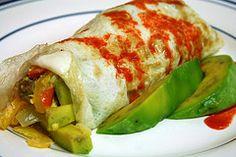 Slow-carb/Paleo friendly breakfast burrito