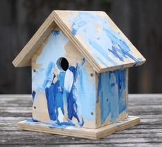 DIY birdhouse, plus tips for successful toddler painted gifts, great for mothers day
