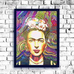 Frida Kahlo popart poster Frida photo Frida by giftsforloved