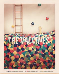 "The Vaccines ""Come of Age"" Poster by Jose Berrio, via Behance"