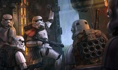 Some stormtroopers taking some shelter from the rain before going out on patrol Art by Edouard Groult See more Empire art here. More stormtrooper art here. Stormtrooper Art, Imperial Stormtrooper, Cyberpunk, Star Wars Spaceships, Star Wars Personajes, Star Wars Concept Art, Star Wars Wallpaper, Hd Wallpaper, Wallpapers