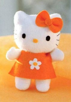 Hello Kitty Butterfly with Cute Dress Down  by TheTrendyYarnStudio, $5.75