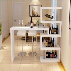 Home Bar Rooms, Home Bar Decor, Bar Home, Mini Bar At Home, Living Room Partition Design, Room Partition Designs, Home Bar Furniture, Furniture Design, Furniture Online