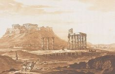 View of the Acropolis, the Parthenon and the Temple of Olympian Zeus from the Ilissus. - HAYGARTH, William - TRAVELLERS' VIEWS - Places – Monuments – People Southeastern Europe – Eastern Mediterranean – Greece – Asia Minor – Southern Italy, 15th -20th century