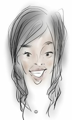 Caricature I did of my friend stacy