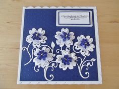 Tattered Lace Floral Dies, stamp by Kanban Tattered Lace Cards, Embossed Cards, Create And Craft, Card Crafts, Peacocks, Flower Cards, Homemade Cards, Florals, Card Ideas