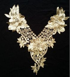 1PC~FANCY LACE PINK SEQUIN BOW~IRON ON APPLIQUE PATCH