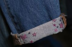 you doodle stars on the cuffs of your jeans
