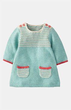 Mini Boden 'Stripy' Knit Dress (Infant) available at #Nordstrom