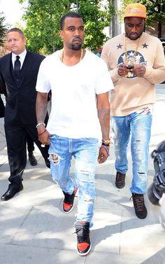 "Kanye West in Air Jordan 1 ""Banned"""