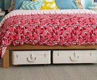 """Under the bed storage from old suitcases with added casters for mobility!"""" data-componentType=""""MODAL_PIN"""