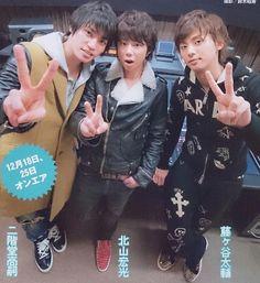 Kis-My-Ft2 Hiromitsu Kitayama, Taisuke Fujigaya and Takashi Nikaido