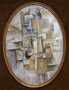 Pablo Picasso, 1911-12, Violon (Violin), oil on canvas, Kröller-Müller Museum, Otterlo, Netherlands