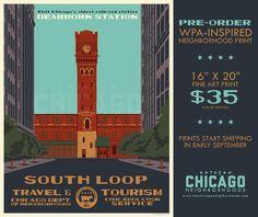 WPA-Inspired Chicago Neighborhoods Posters