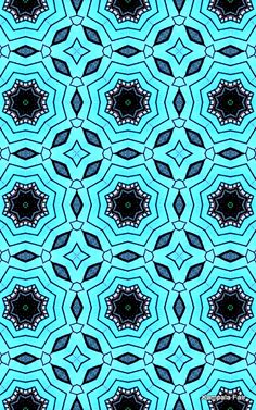 Aqua pattern would make a great scarf or long flowing skirt