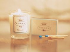 Scented Travels. Turn any room into an oasis with Tocca's mini candelina. These travel candles come in a gift set of 4: Kyoto, Cleopatra, Grace & Havana. #Sephora