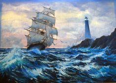 Clipper Ship 1984 36x48 by Violet Parkhurst