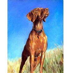 Vizsla Hound Dog Art 8x10 Print of Original by DottieDracos, $12.00