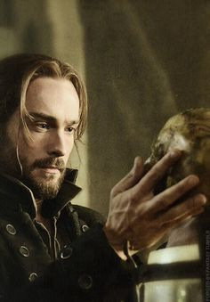 Tom Mison~look at those gorgeous hands with the long, elegant fingers...I'll stop now.  He enjoyed playing my hero, Sheriff Crispin Marwick.  Prim and stodgy yet willing to be trained.
