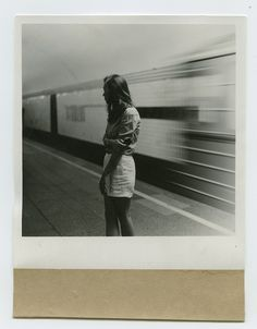 girl at the train
