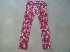 Miss Me Red Tie Dye & White Skinny Leg Women's Jeans Size 27  $36.99  FREE SHIPPING