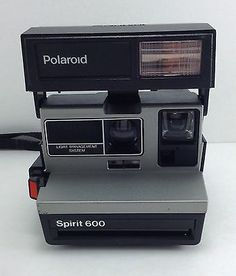 Vintage POLAROID Spirit 600 Instant Land Camera With Built In Flash FILM TESTED