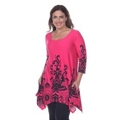 8d1cbbc3ad1 Shop for White Mark Women s Plus Size  Yanette  Tunic Top. Free Shipping on