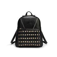 REALER brand fashion pink backpack women shoulder bag school backpacks for teenage girls studded backpack black rivet backpack