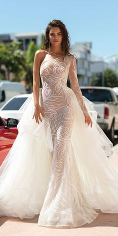 Sexy V Neck Princess Wedding Dress, White Wedding Dresses, Sexy Wedding Dresses, Beautiful Wedding Dresses. Off-The-Shoulder Wedding Dresses, V Neck Mermaid Dresses. Evening Dresses For Weddings, Sexy Wedding Dresses, Lace Weddings, Wedding Dress Styles, Bridal Dresses, Sexy Dresses, Elegant Dresses, Mermaid Dresses, Wedding Outfits